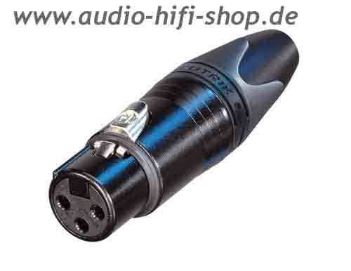 NEUTRIK NC3FXX-B 3-pol XLR female